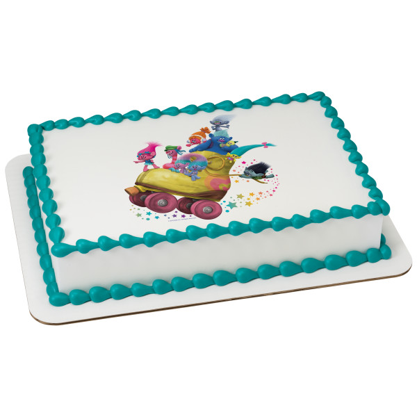 DreamWorks - Trolls Poppy's Posse PhotoCake® Edible Image®