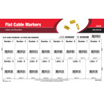 Flat Cable Markers Assortment (Letters and Numbers)