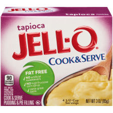 Jell-O® Tapioca Fat-Free Cook & Serve Pudding & Pie Filling Mix, 3 oz Box