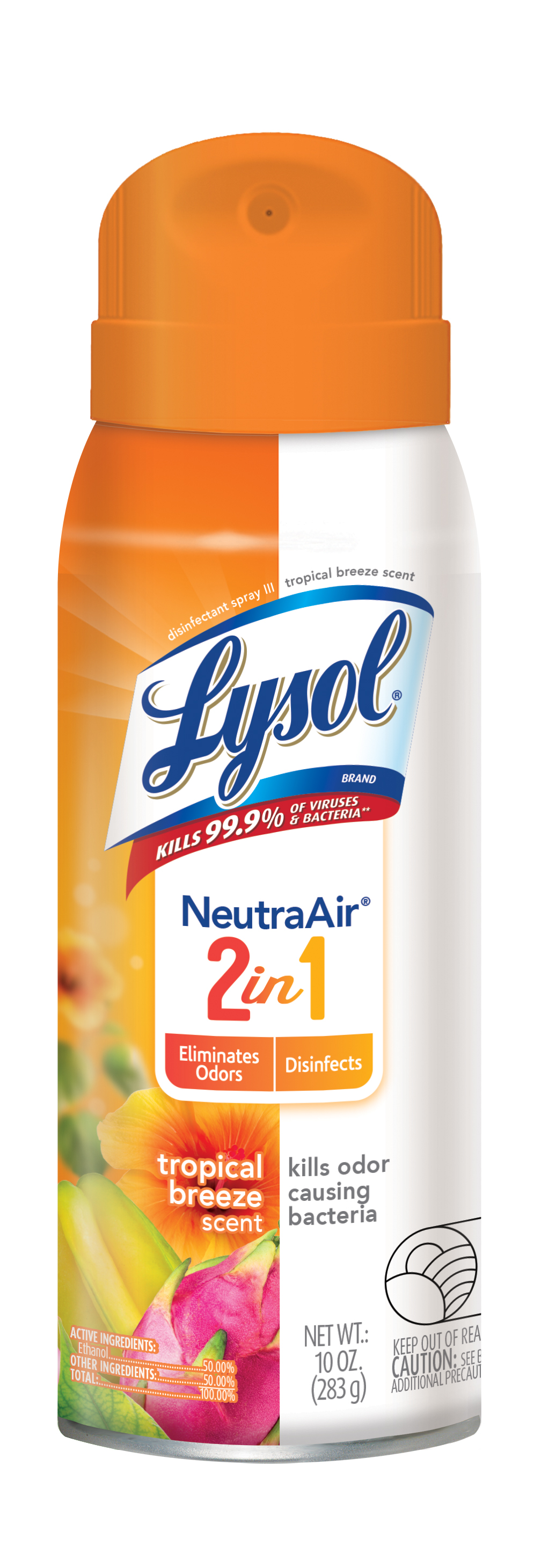 Lysol Disinfectant Spray, Neutra Air 2 in 1, Tropical Scent, 10oz