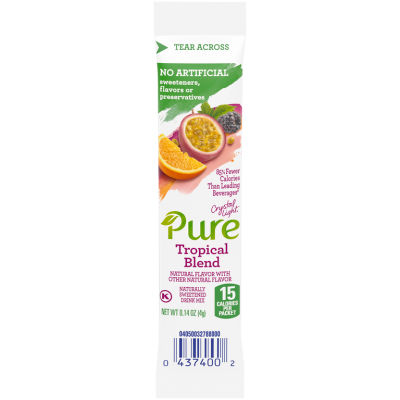 Crystal Light Pure Tropical Blend Drink Mix 0.14 oz Wrapper