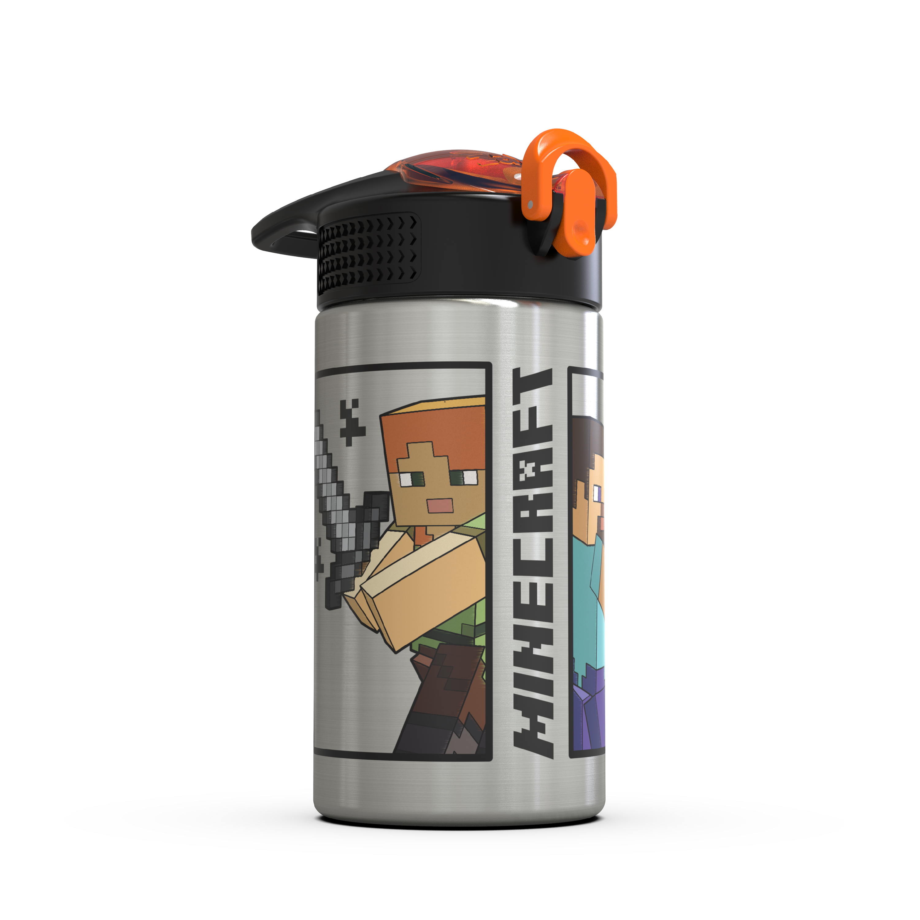 Minecraft 15.5 ounce Water Bottle, Steve and Alex slideshow image 10
