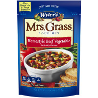 Wyler's Mrs. Grass Homestyle Beef Vegetable Hearty Soup Mix 7.48 oz Pouch image