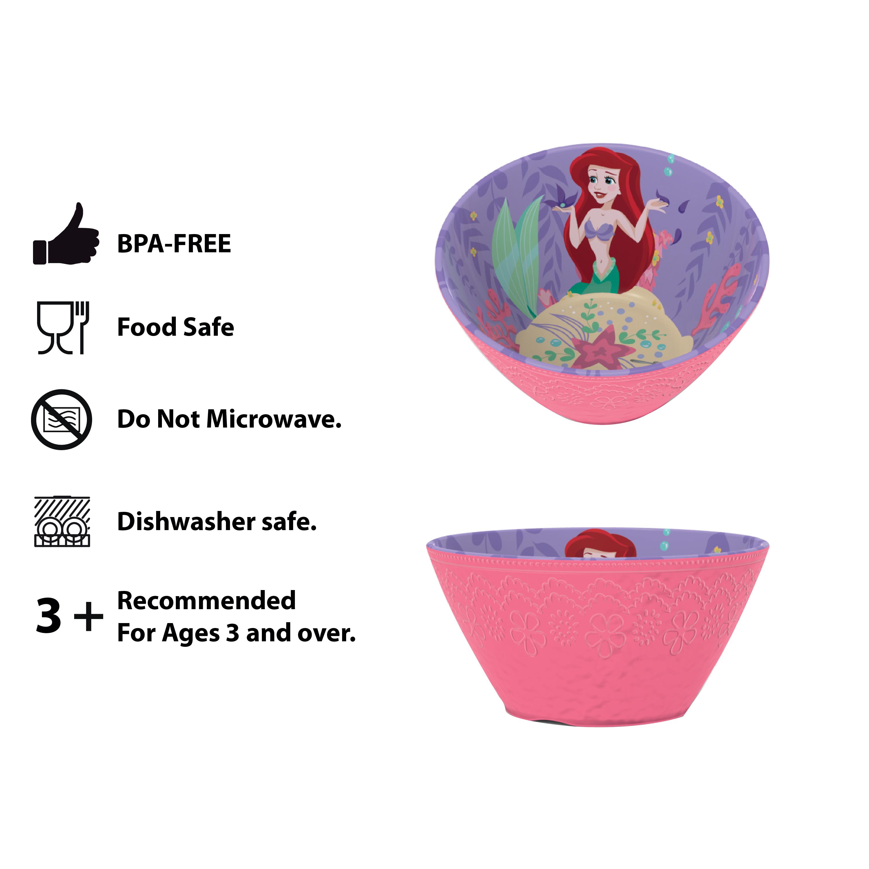 Disney Kids Plate and Bowl Set, Princess, 4-piece set slideshow image 7