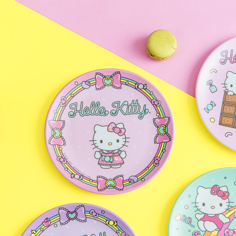 Sanrio 6-inch Appetizer Plate, Hello Kitty, 4-piece set slideshow image 5