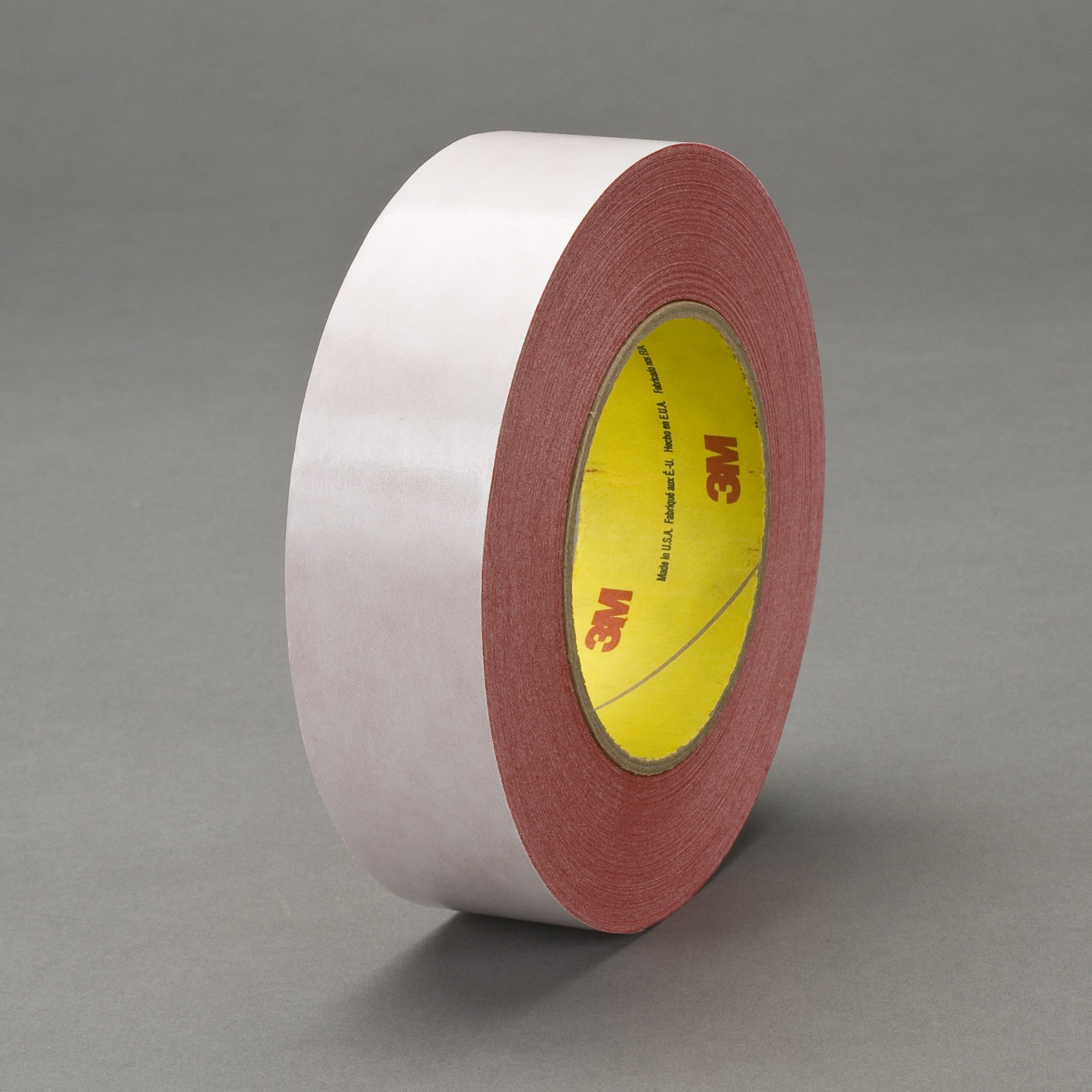 3M™ Double Coated Tape 9737R, Red, 19 mm x 55 m, 3.5 mil, 64 rolls per case