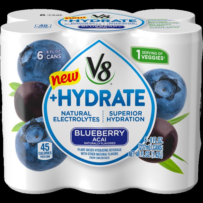 Plant-Based Hydrating Beverage, Blueberry Acai