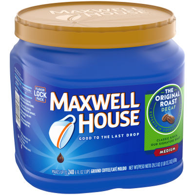 Maxwell House Decaf Original Roast Ground Coffee, 29.3 oz Jug