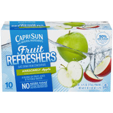 Capri Sun Fruit Refreshers Awesomely Apple Juice Drink 10 - 6 fl oz Pouches