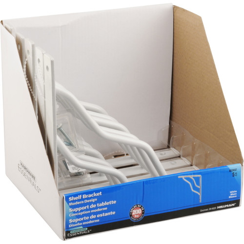 Hardware Essentials White Ornamental shelving Bracket 7