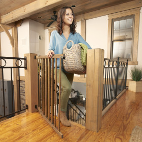 Walk-Thru Top Of Stairs Baby Gate