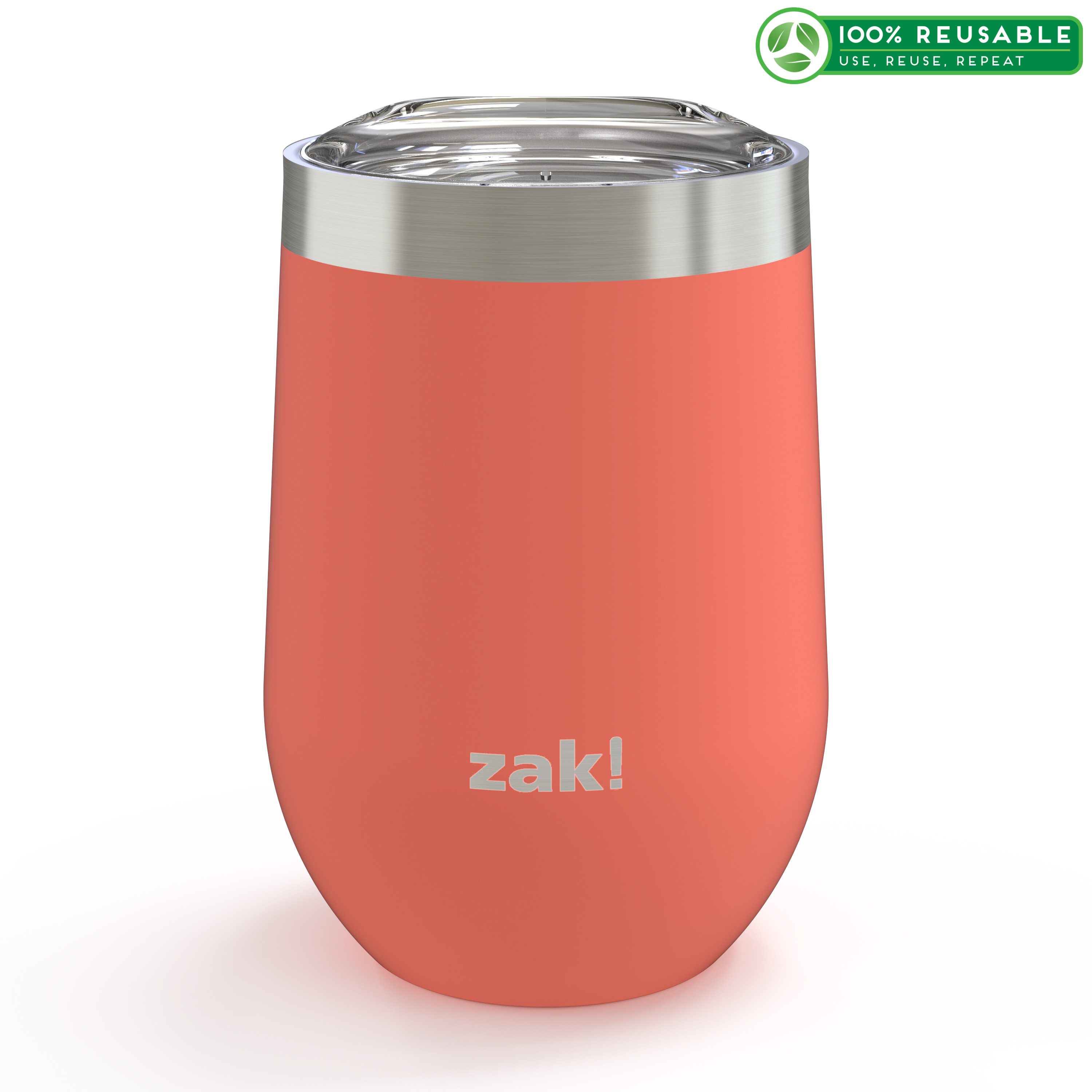 Palisades 11.5 ounce Vacuum Insulated Stainless Steel Tumbler, Peach slideshow image 1