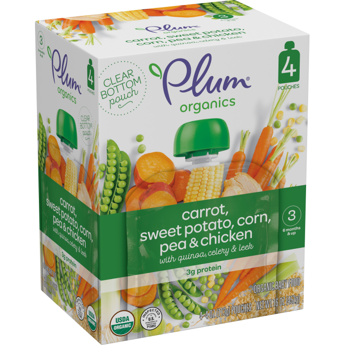 Carrot, Sweet Potato, Corn, Pea & Chicken ( Pack of 4)