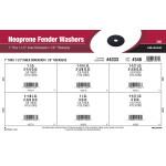 """Neoprene Fender Washers Assortment (1"""" thru 1-1/2"""" Inner Dia. + 1/8"""" Thickness)"""