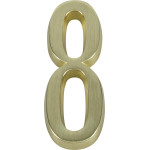 "Distinctions 4"" Adhesive Brushed Brass Plaque Number"