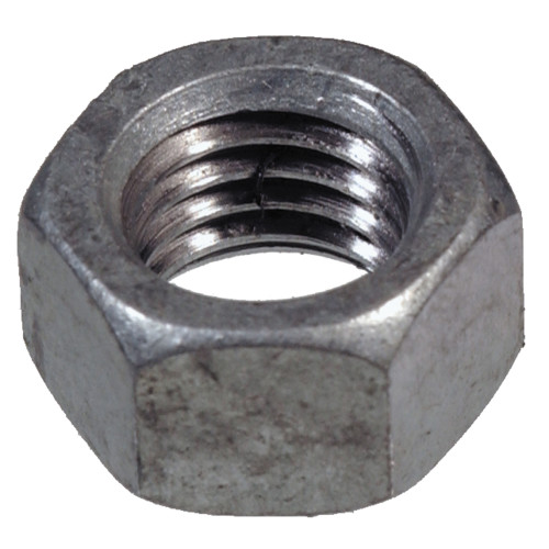 Coarse Galvanized Hex Nuts 3/8