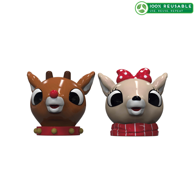 Rudolph the Reindeer Salt and Pepper Shaker Set, Rudolph & Clarice, 2-piece set slideshow image 1