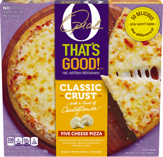O That's Good! Classic Crust Five Cheese Pizza 22.8 oz Box