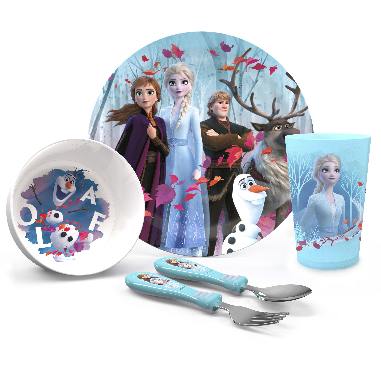 Disney Frozen 2 Movie Dinnerware Set, Anna, Elsa and Friends, 5-piece set slideshow image 1