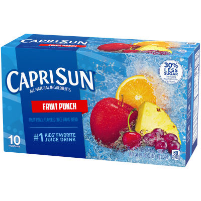 Capri Sun Fruit Punch Ready-to-Drink Juice Drink, 10 Pouches