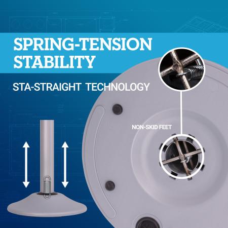 Premium Steel Stanchion - Silver with Blue belt 6