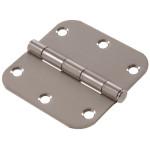 "Hardware Essentials 5/8"" Round Corner Stainless Steel Door Hinges (3-1/2"")"