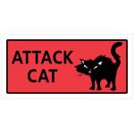 Attack Cat Sign