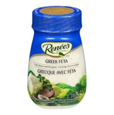 Renees Greek Feta Dressing, 355mL