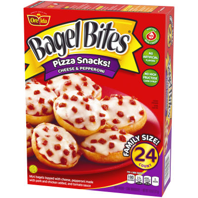 Bagel Bites Cheese & Pepperoni Pizza Snacks 24 count Box
