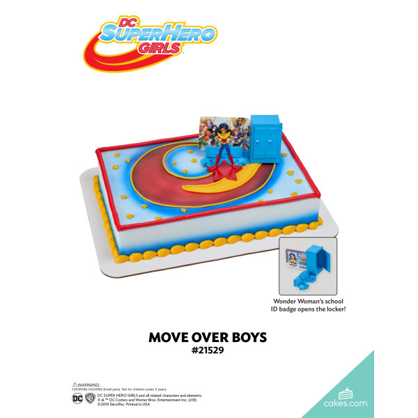 DC Super Hero Girls™ Move Over Boys DecoSet® The Magic of Cakes® Page