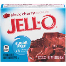 Jell-O Black Cherry Sugar Free Gelatin Mix 0.3 oz Box
