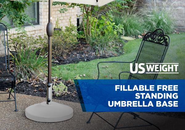 Fillable Free Standing Umbrella Base - White 12