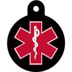Large Circle Medical ID Quick-Tag