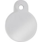 Chrome Small Circle ID Spot Tag