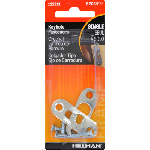 Hillman Small - KeYhole Hangers with Screws