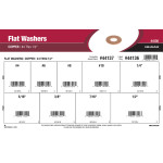 "Copper Flat Washers Assortment (#4 thru 1/2"")"