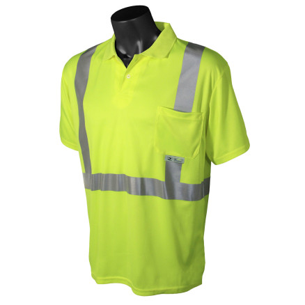 Radians ST12 Class 2 High Visibility Safety Short Sleeve Polo
