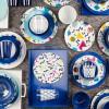 Confetti Salad Plate, Blue slideshow image 3