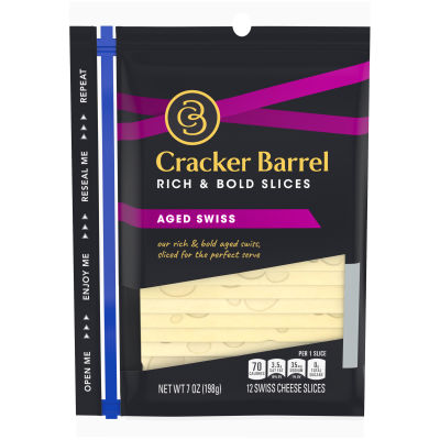 Cracker Barrel Aged Swiss Cheese 12 slices - 7 oz