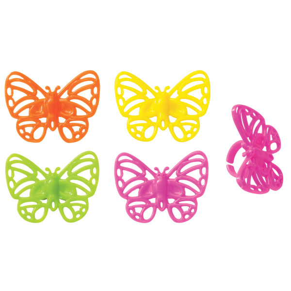 Bright Butterflies Cupcake Rings