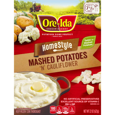 Ore-Ida Home-style Mashed Potatoes 'N' Cauliflower 22 oz Box