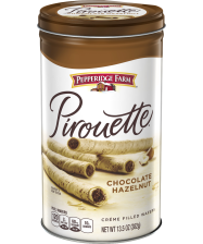 Pepperidge Farm® Pirouette® Chocolate Hazelnut Rolled Wafers(about 1/2 of a 13.5-ounce canister)