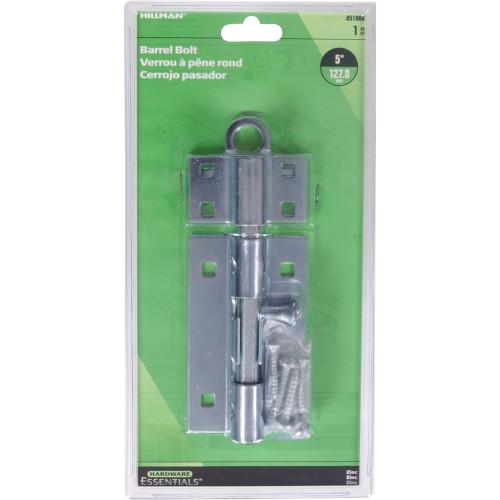 Hardware Essentials Ajustlock Zinc Gate Barrel Bolt 5