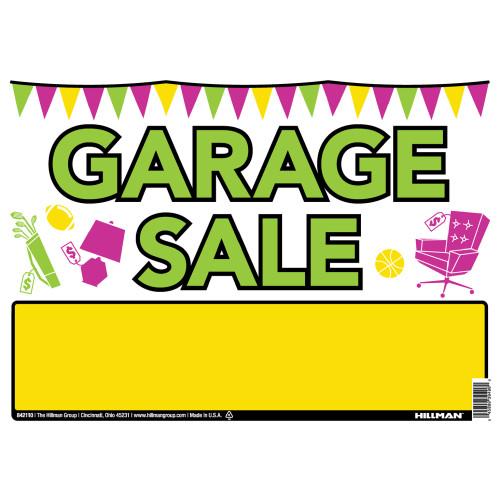 Hillman Vibrant Garage Sale Sign 10