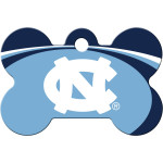UNC Tar Heels Large Bone Quick-Tag
