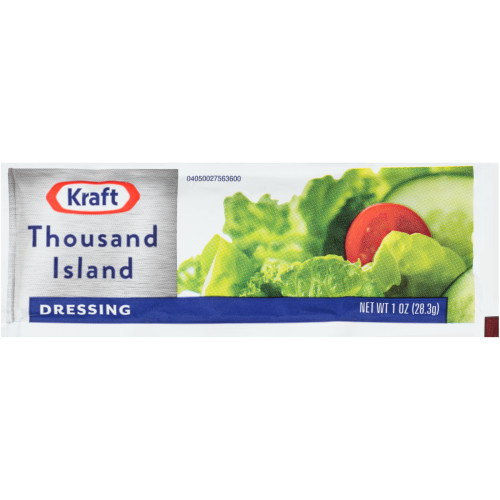 KRAFT Single Serve Thousand Island Salad Dressing, 1 oz. Packets (Pack of 100)