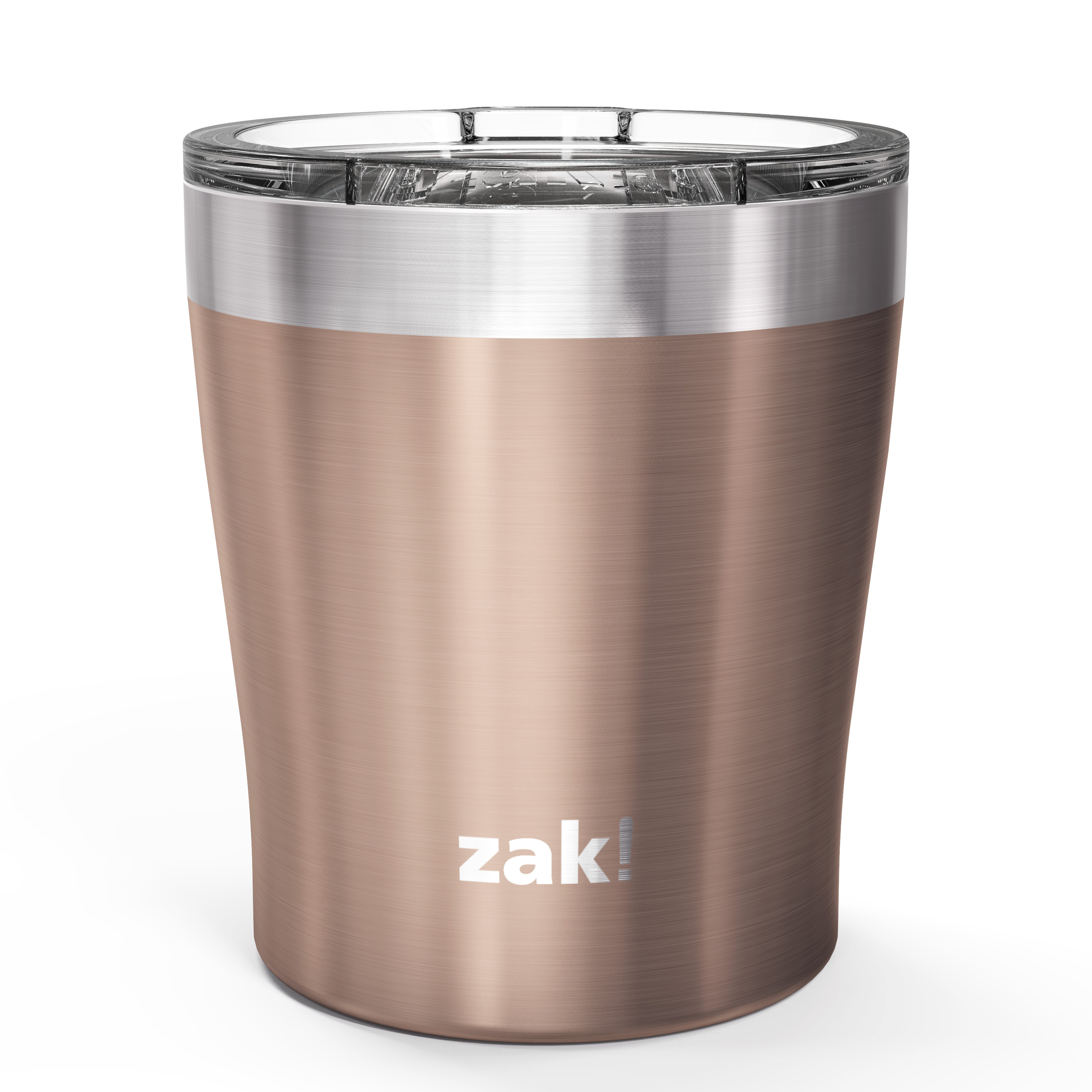 Dayton 10 ounce Vacuum Insulated Stainless Steel Tumbler, Rose Gold, 2-piece set slideshow image 2