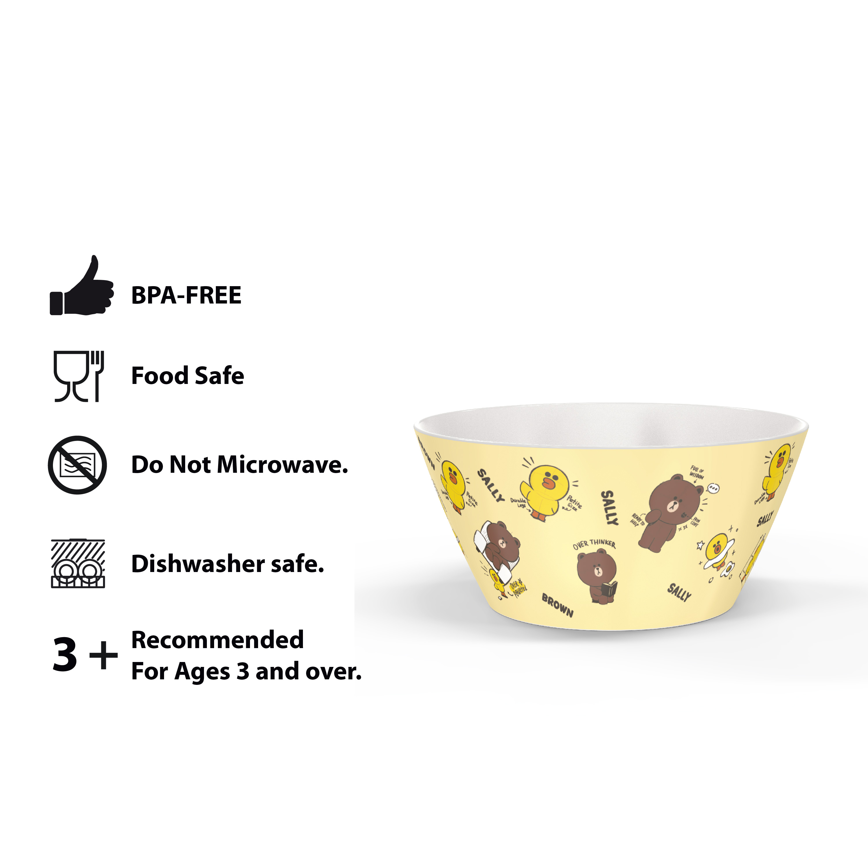 Line Friends Dinnerware Set, Teddy Bear, 2-piece set slideshow image 11