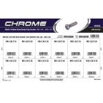 Chrome Metric Button-Head Socket Cap Screws Assortment (M6-1.00 thru M10-1.50 Thread)