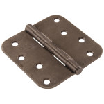 "Hardware Essentials 5/8"" Round Corner Pewter Door Hinges (4"")"